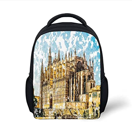 Amazon.com  iPrint Kids School Backpack Gothic Decor c163efdc65486