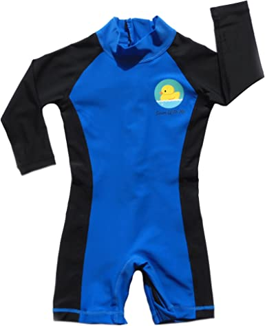 SPF 50 BIB-ON Swim with Me Kids Ages 2-6 Years. Boys Swimsuit for Toddler