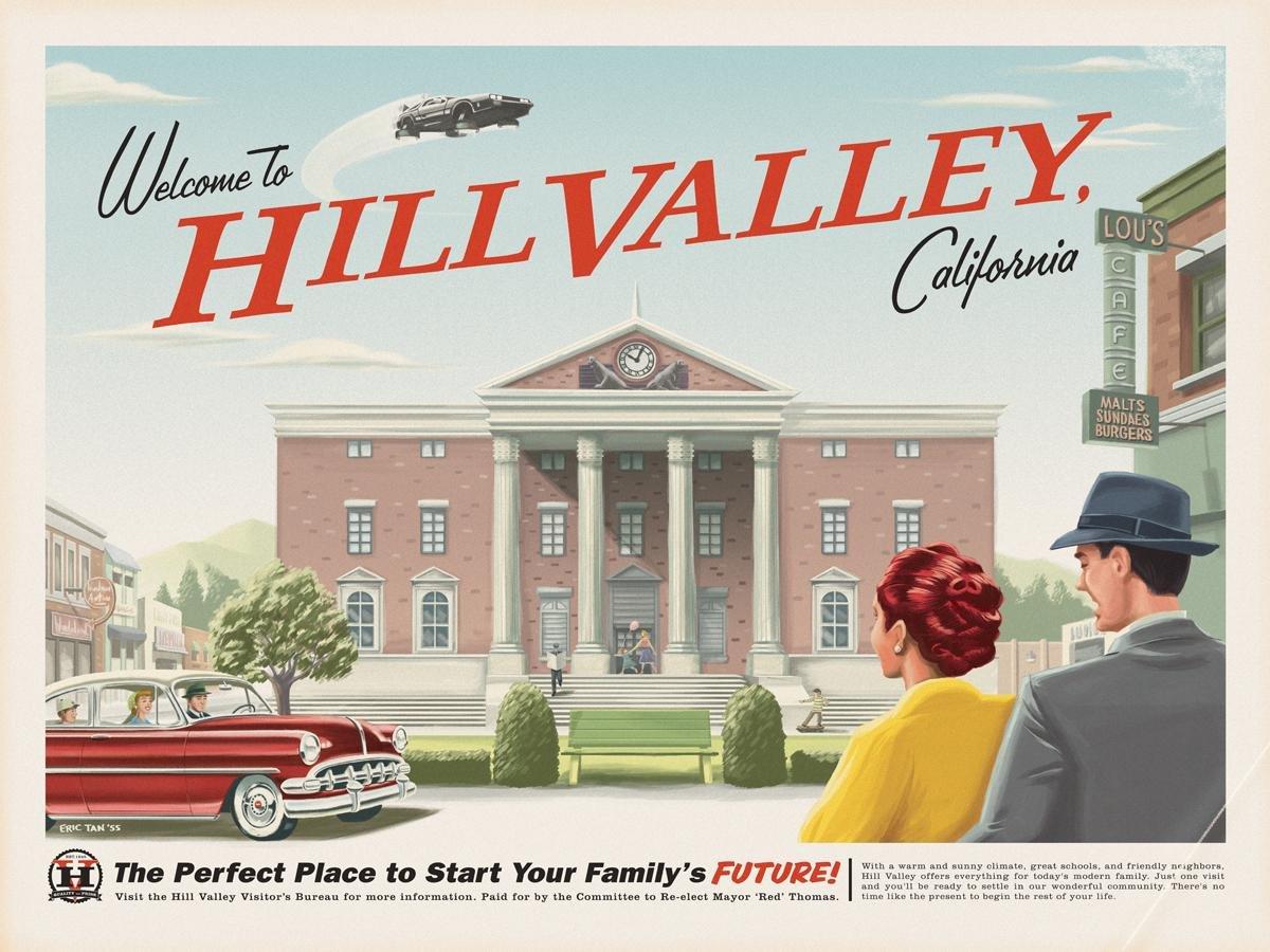 Regreso al futuro (Bienvenido a Hill Valley) - cartel de la ...
