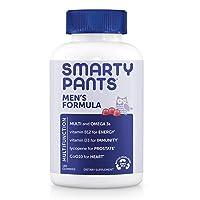 SmartyPants Men's Formula Daily Gummy Multivitamin: Vitamin C, D3, and Zinc for...