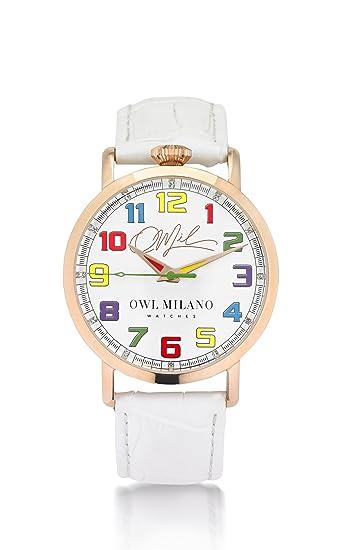 Owl Milano Reloj mujer acero Owl Leather [om-r-w-1 m]