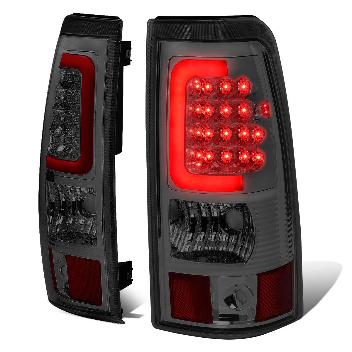 Driver /& Passenger Side DNA Motoring TL-CSIL03-LED-RD3D-CH-SM 3D LED Tail Light
