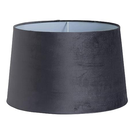 Pantalla para lámpara de techo de terciopelo gris cónico de ...