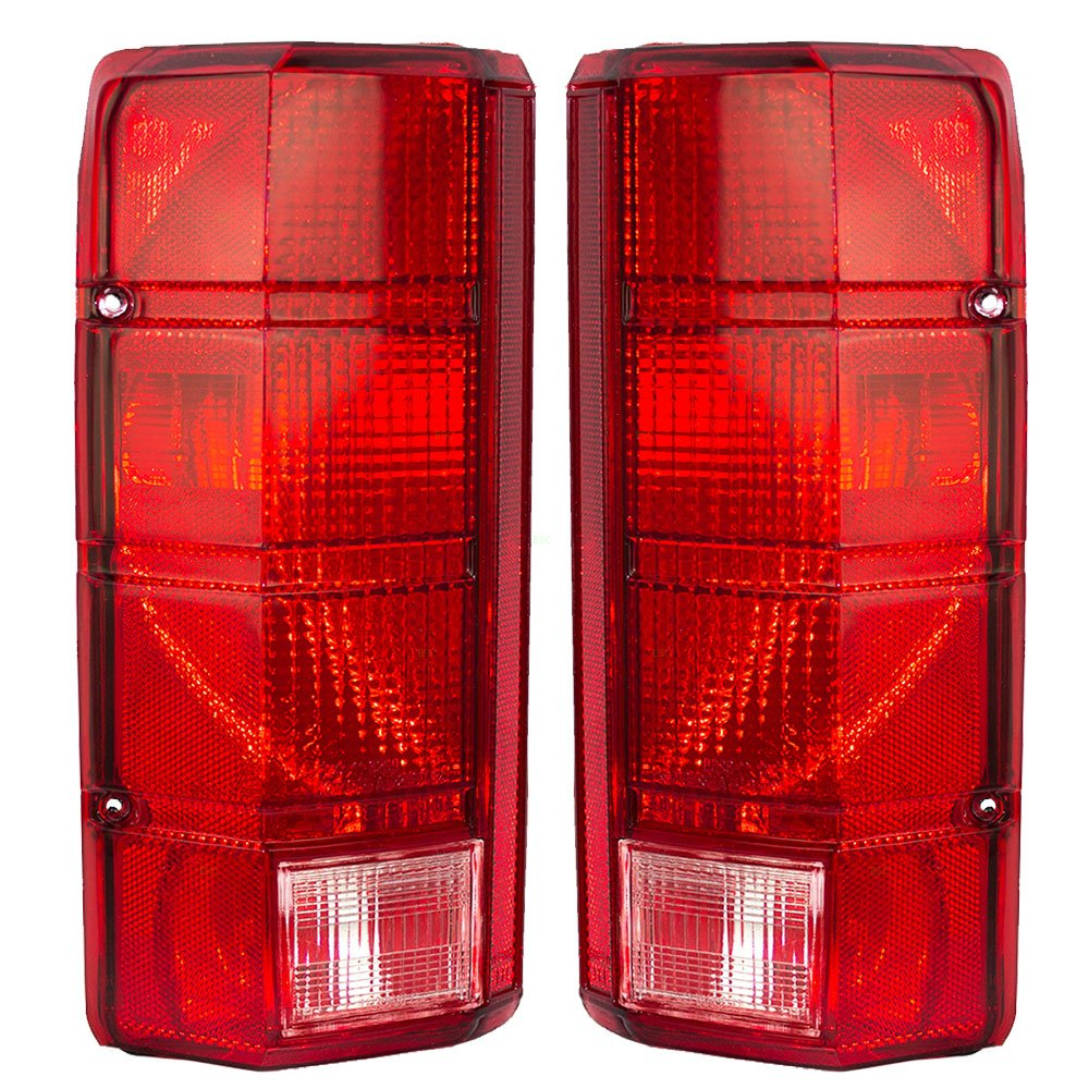 Driver and Passenger Taillights Tail Lamps Replacement for Ford Pickup Truck SUV E4TZ13405B E4TZ13404B