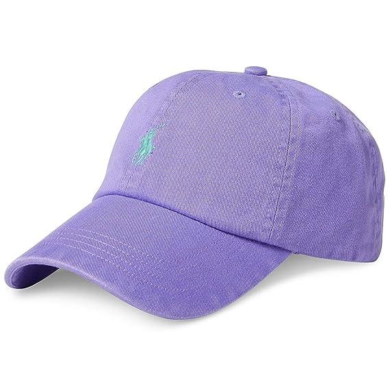 Ralph Lauren - Gorra de béisbol - Morado Hampton Purple: Amazon.es: Ropa y accesorios