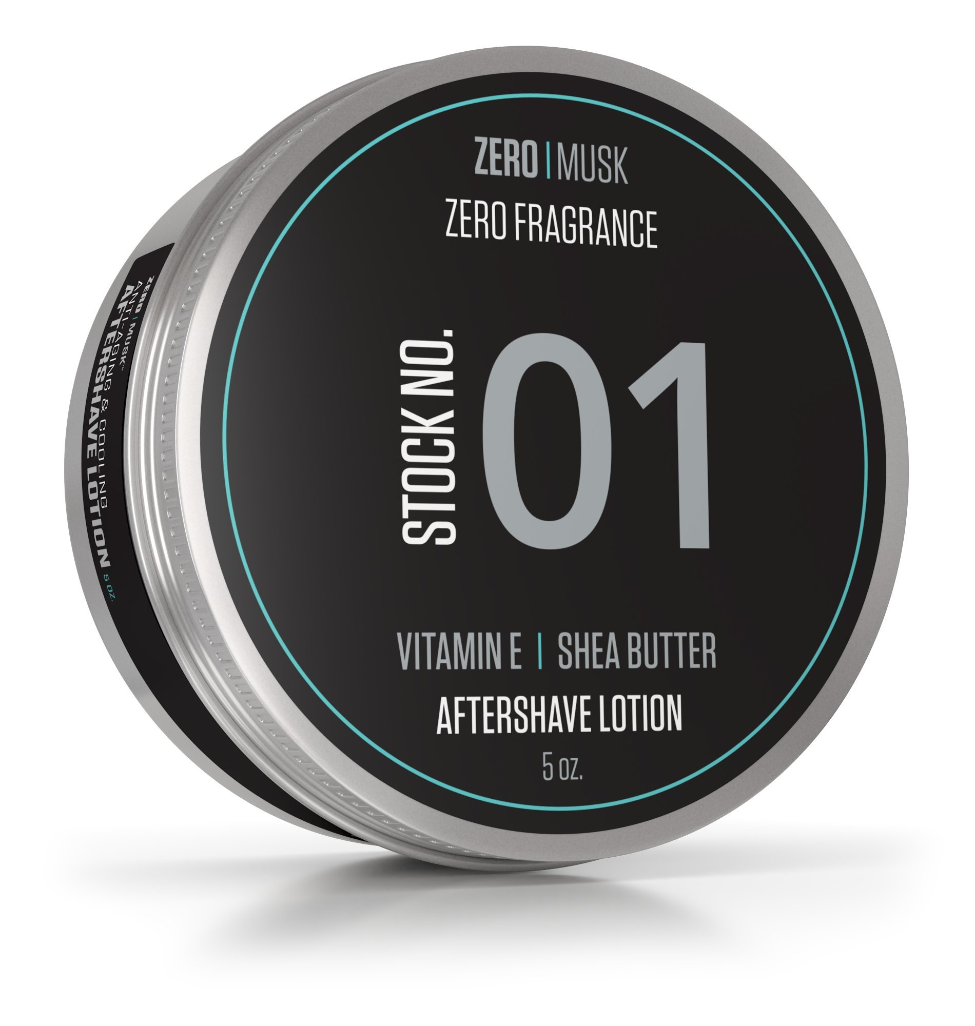 Aftershave Lotion For Men - (5oz) Mens Anti-Aging Post Shave Moisturizer With Vitamin E - Unscented After Shave Lotion With Cooling Menthol - Prevent & Heal Razor Burn and Dry Skin With Moisturizing S