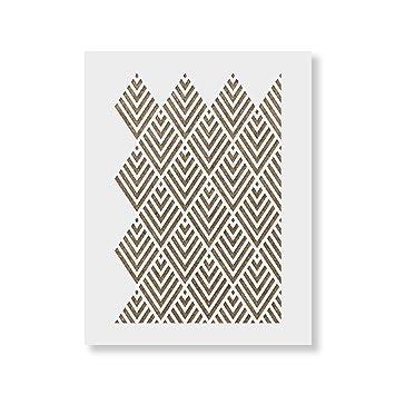Amazon Com Geometric Stencil Template Reusable Wall Stencil