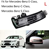 BOXATDOOR Car Turn Side Indicator Door Side Wing Mirror Signal Lamp Left for Benz S-Class E-Class C-Class