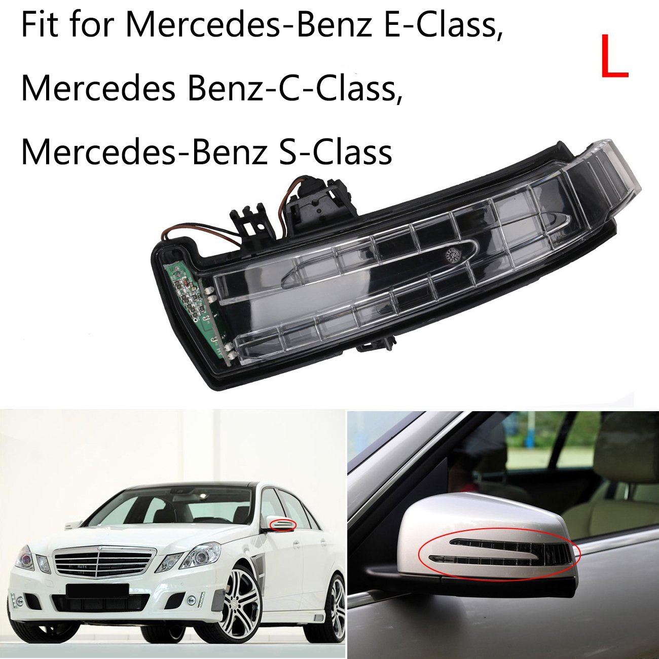 Auto Au/ßenspiegel Indikator,BOXATDOOR Links Seite Spiegel Lampe f/ür E-Klasse