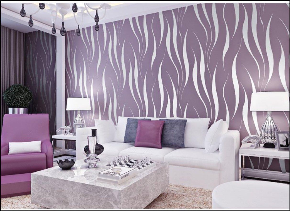 no tejido papel de pared dormitorios//sal/ón//hotel//fondo de TV//color morado,0.53M*10M HANMERO/® Murales de pared Papel pintado rayas extra grueso