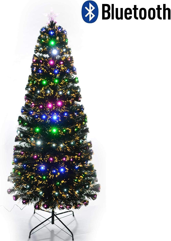 Shatchi 6080-LED-DIAMONDS-TREE-2FT Sapin de No/ël lumineux en fibre optique avec strass pour d/écoration dint/érieur Vert 60 cm 0,6 m