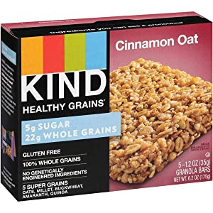 Kind, Bars Healthy Grains Cinnamon Oat, 1.2 Ounce, 5 Count