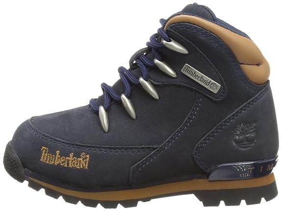 Amazon   Timberland ユニセックス・キッズ Euro Rock Hiker US サイズ: 4.5 M US Big Kid  カラー: ブルー   Timberland(ティンバーランド)   ブーツ