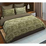 Boutique Living India Sapphire Olive 300TC Percale Printed Queen Size (2.24 m x 2.74 m) Double Bedsheet with 2 Pillow Covers