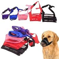 Weiye Dog Muzzle, Adjustable Pet Dog Mouth Cover Muzzles for Barking Biting Chewing, Dog Mask for Small Large Medium Dogs - 1pcs Nylon Dog Muzzle Mesh Mask