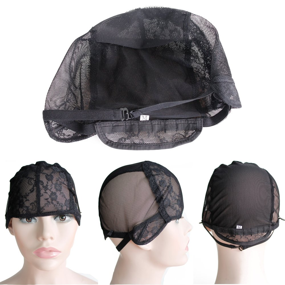 91d902ad708 Amazon.com  CXYP Lace Wig Caps For Making Wigs With Adjustable Strap  Weaving Cap Tools Hairnets Glueless Wig Cap (Middle
