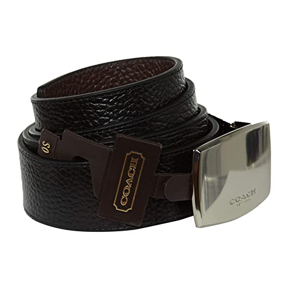 573de3a98a22 Coach Black Brown Leather Cut-to-Size Reversible Belt F64842 (BLACK DARK  BROWN)  Amazon.in  Clothing   Accessories