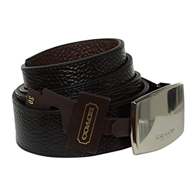 195b2688270 Coach Wide Plaque Cut-to-Size Reversible Pebble Leather Belt Womens Style   F64842