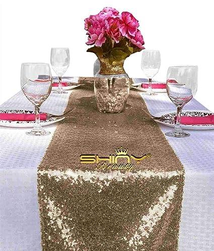 Amazon Shinybeauty Sequin Table Runner 108 Chocolate Party