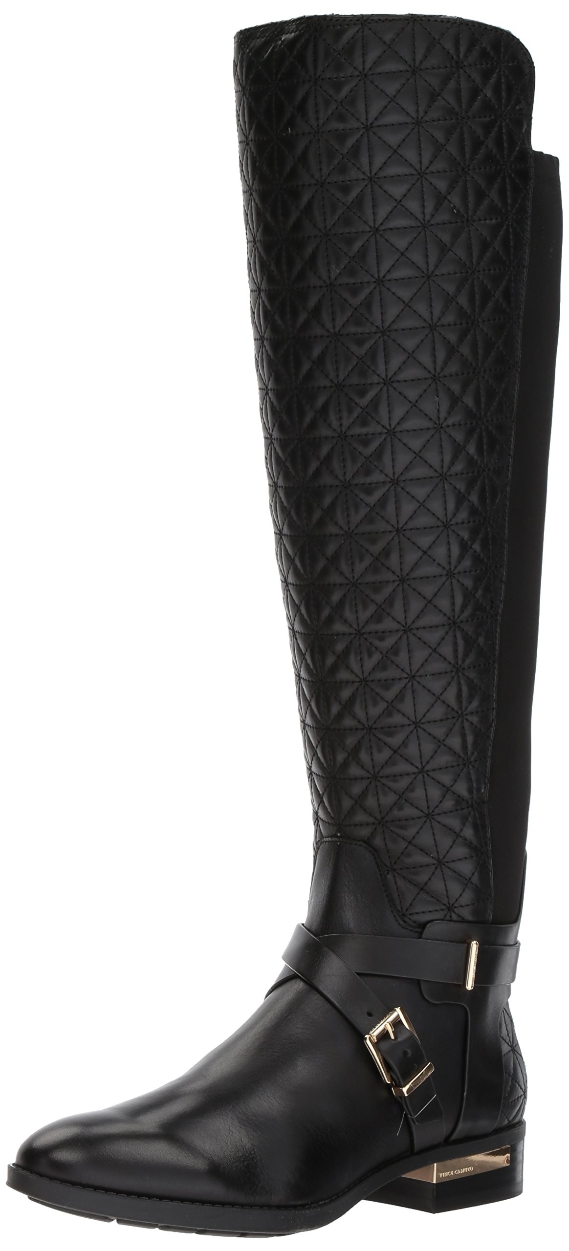 Vince Camuto Women's Patira Fashion Boot, Black Wide Calf, 9 Medium US