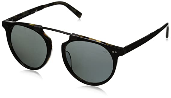 John Varvatos Mens V602 Polarized Round Sunglasses