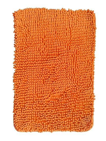 Amazon.com : Hughapy Orange Non Slip Microfiber Carpet/Doormat ...