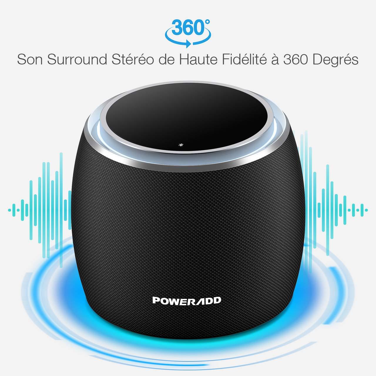 POWERADD Enceinte Bluetooth Portable, 36W Basse Performante Haut-Parleur sans Fil 4 Pilotes Intégrés, 4000mAh Grande Capacité, Volume Rotatif, 12 Heures de Lecture pour Intérieur/Extérieur