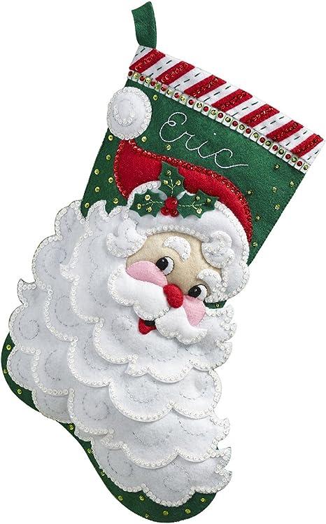 Bucilla Kit De Calcetin De Navidad De Fieltro 45 7 Cm 86648 Santa Claus Amazon Com Mx Hogar Y Cocina