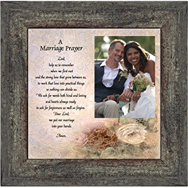 Prayer for You Marriage, Personalized Picture Frame, 10X10 6757 (10x10, Barnwood3)