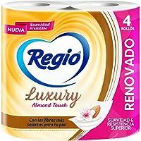 Regio Papel Higiénico Luxury Almond Touch; ligero Aroma a Almendras y Hojas Dobles; marca Regio; 4 Rollos, color, 4…