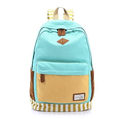 Meaningg marca rayas espalda impresión mochilas laptop mochilas mochila escuela bolsa para adolescentes mochila adolescentes Azul