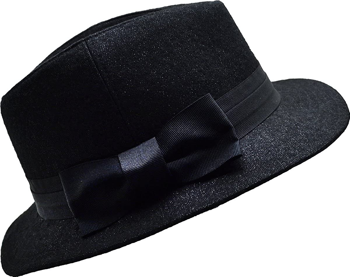 August Accessories Tux Lux Black Fedora One Size at Amazon Women s Clothing  store  9f413901bf83