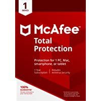 McAfee 2018 Total Protection | 1 Device | PC/Mac/Android | Download