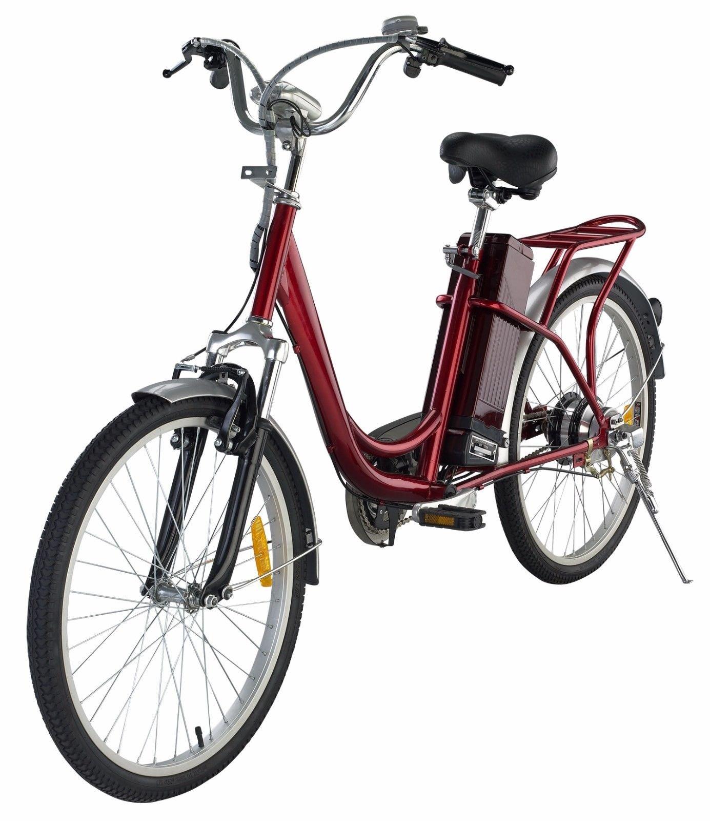 Classic Bicycle Electric Bike Red 250W 24V