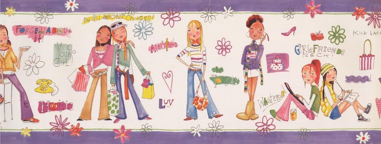Girls Power White BE11192B Wallpaper Border