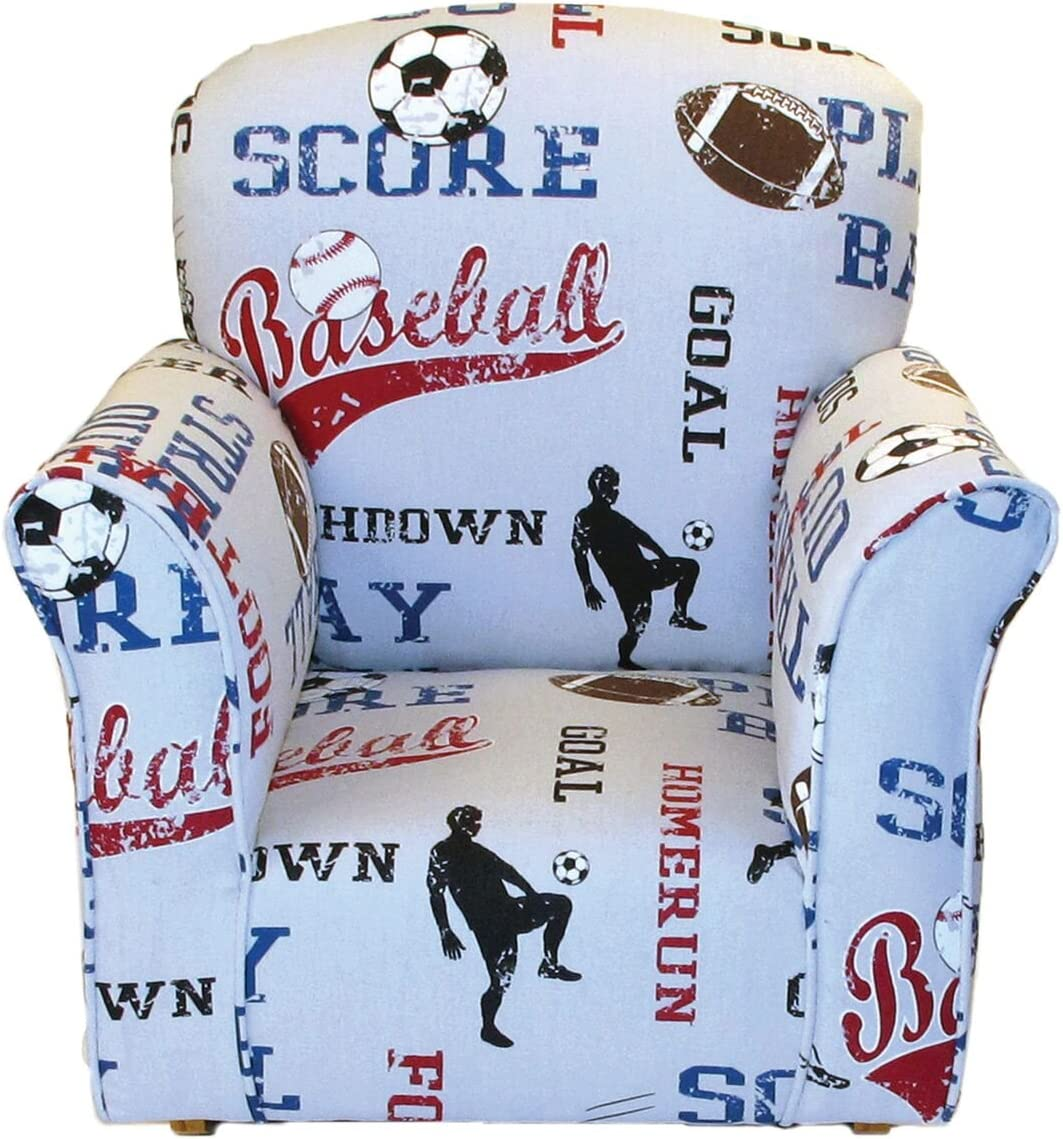 Brighton Home Furniture Toddler Rocker in Sports Printed Cotton