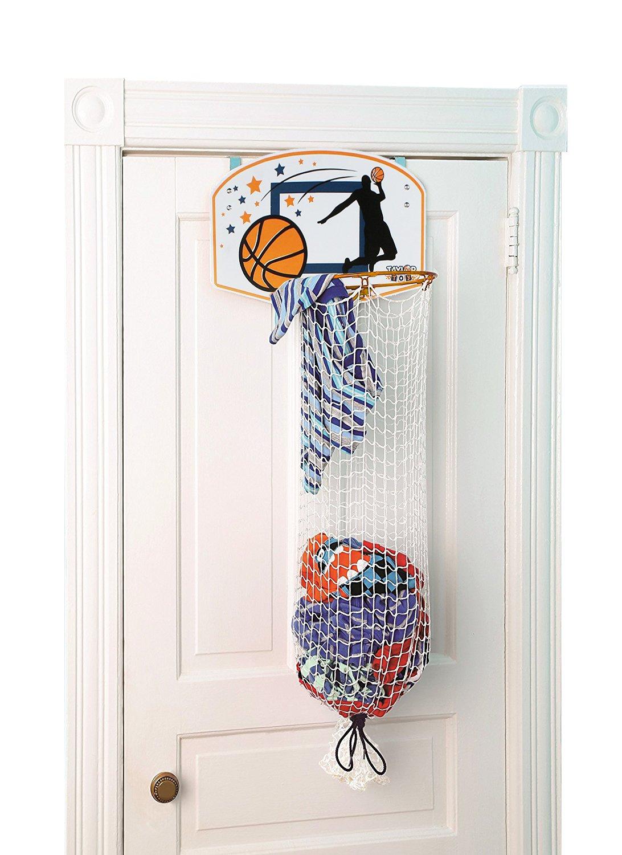 Taylor Toy Basketball Hoop Hamper - Laundry Basket for Kids - Hanging Hamper by Taylor Toy