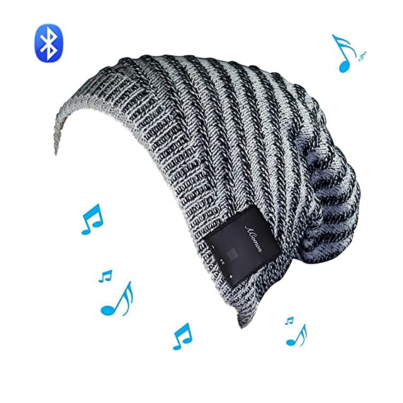 Amazon.com  Wireless BT Beanie Hat Knit Hat Cap with Music Headset ... 0ae0821326c