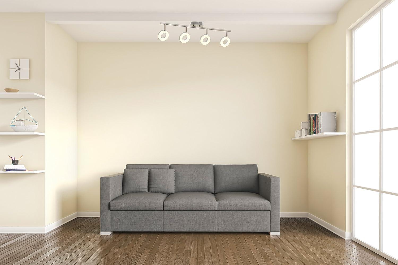 LED Deckenleuchte I 4 flammige Deckenlampe I dreh- & schwenkbar I ...