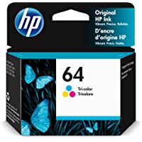 Original HP 64 Tri-color Ink Cartridge | Works with HP ENVY Photo 6200, 7100, 7800 Series… photo