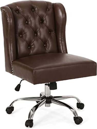 Christopher Knight Home Tammy Contemporary Wingback Tufted Swivel Office Chair