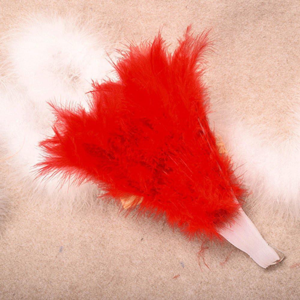 FeiliandaJJ /Éventail pliable en plumes pour femme Style chinois rose