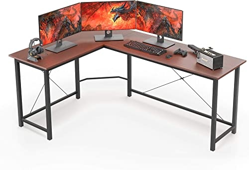 L Shaped Desk Corner Computer Desk 66″ Sturdy Home Office Computer Table Writing Desk Larger Gaming Desk Workstation
