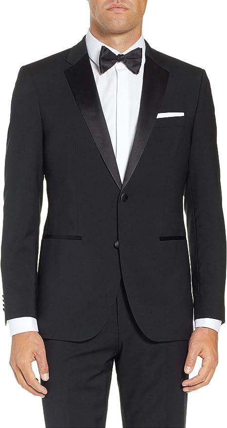 Adam Baker Men's Classic & Slim Fit Two-Piece Formal Tuxedo Suit