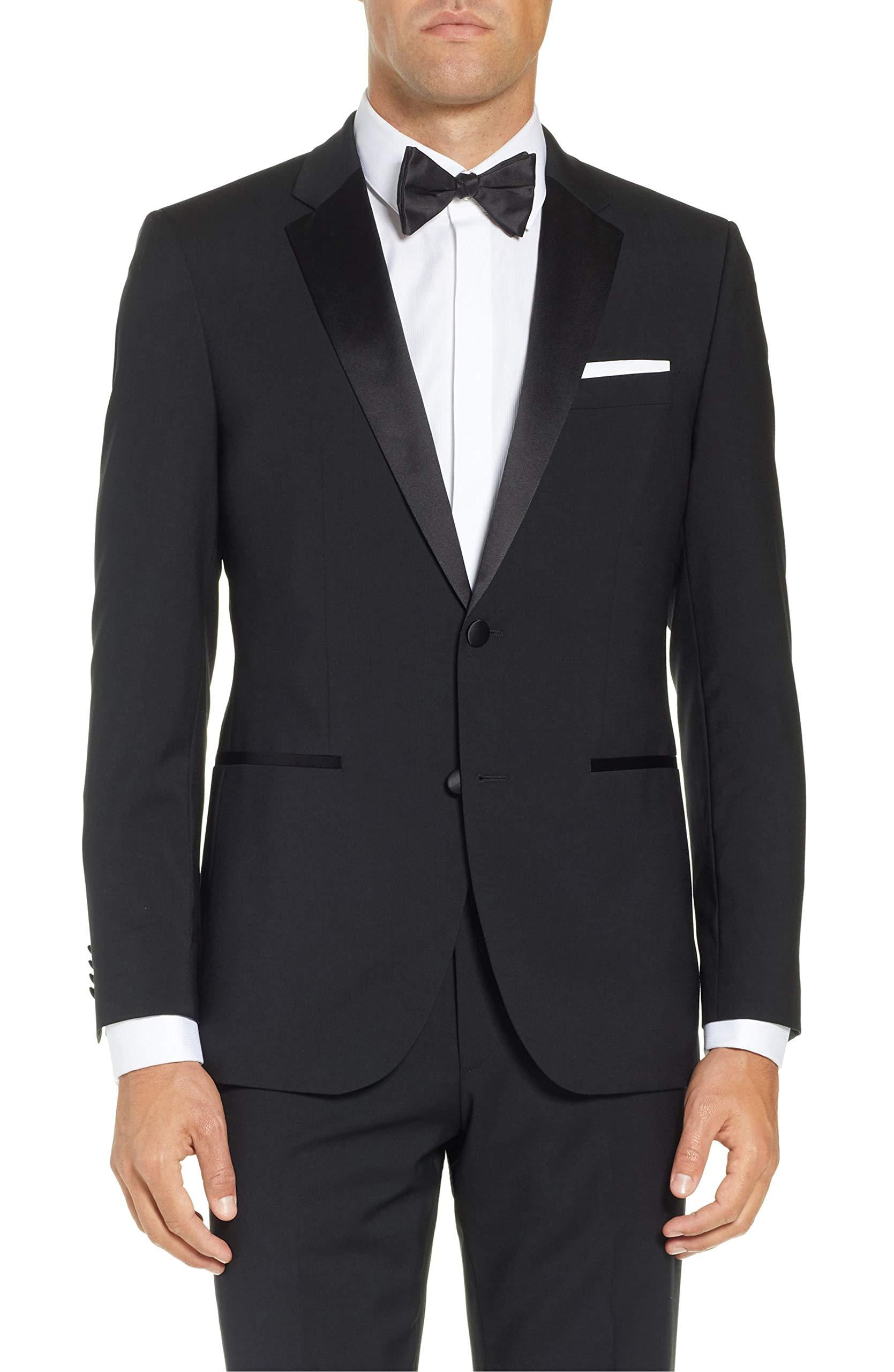 Adam Baker Men's BL501 Classic Fit Tuxedo Suit - Black - 56L by Adam Baker