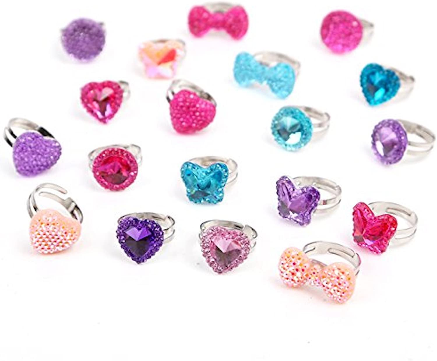 Beyond Dreams® 13 Kids Rings for Girls | Adjustable Ring Set for Children  Jewellery | Cute Silver Finger Accessories | Birthday Gifts for Princess  Party Baby Shower Parties: Amazon.co.uk: Clothing