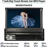 """KKmoon Universel 7"""" Haute Qualité Autoradio Voiture BT Stéréo de Radio MP5 Player GPS Navigation Escamotable Player avec FM USB SD"""