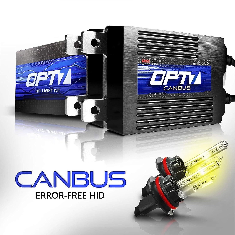 OPT7 BLTZ 55W 9007 Bi-Xenon HID Kit 2 Yr Warranty 3X Brighter 4X Longer Life 6000K Lightning Blue Light All Bulb Sizes and Colors