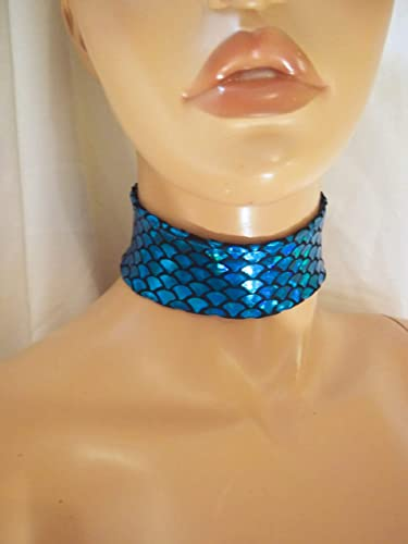 9648900f2bc68 Amazon.com: Designs By Loure Blue Mermaid Choker Necklace: Handmade