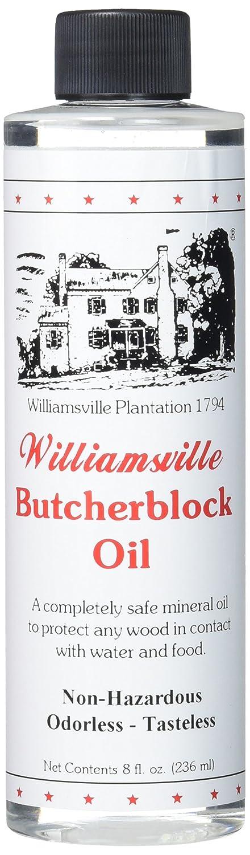 Staples 351-W12 Williamsville Butcherblock Oil, 8-Ounce